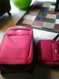 two red and black softside luggage Bloomingdale, 60108