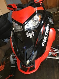 red and black Polaris snowmobile Westfield, 05874