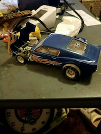 It's a plastic diecast Mustang