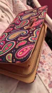 red and black paisley print wallet Frederick, 21702