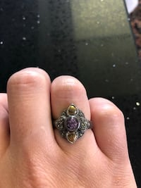 Antique sterling silver ring with purple stone Toronto, M2R 3N1
