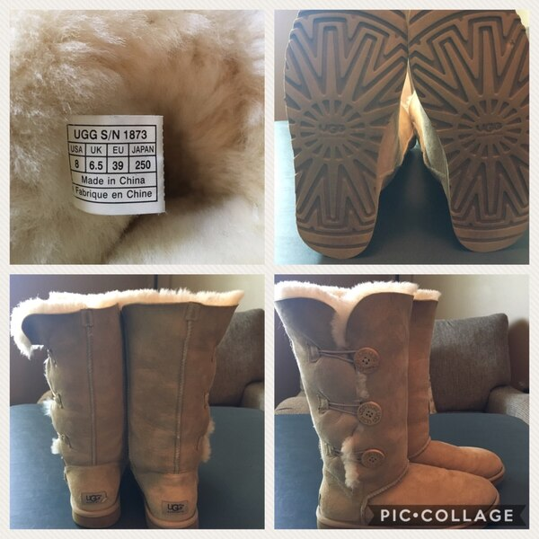 ed8b1a442ef Uggs Tan Bailey 3-button boots