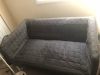 Grey mini couch with white frames, very sturdy. Fort Washington, 20744