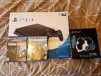 Sony PS4 console with controller and game cases Bolton