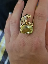 Ouro Verde stone sculpted panther ring Camp Hill, 17011
