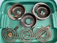 """6"""" Stove Coil Elements and Dishes"""