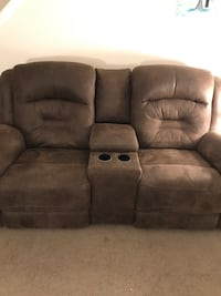 brown suede home theater sofa Taylor, 48180