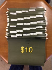 26 File Folders with tabs used $10 Firm Toms River, 08753