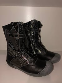 New Eddie Marc Kids black glittery laced & zippered boots size 2
