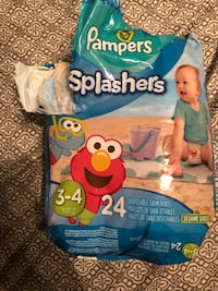 Pampers splashers size 3-4, 24pk