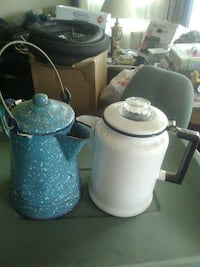 two white and blue metal pitchers Portage, 46368
