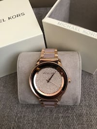 MK6432 - Michael Kors Kinley Rose-Gold Tone abs Blush Acetate Watch Richmond Hill, L4C 1W3