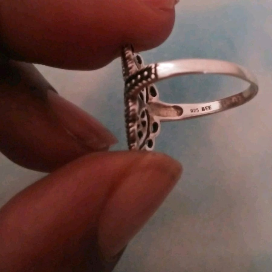 Nice pure sterling silver won't fade ring