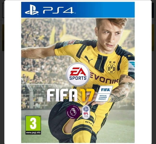 FIFA 17 for ps4 e143cf5a-b6a0-48eb-9676-b5e4f955d6d6