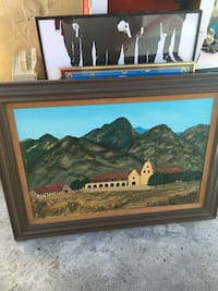 White and brown cathedral painting Los Angeles, 90230