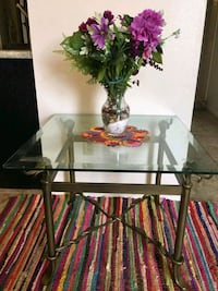 black metal frame glass top table Houston, 77027