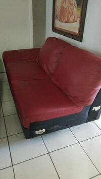 red fabric padded sofa chair Miami, 33142