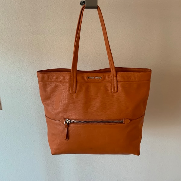 Used Miu Miu Orange Tote Bag for sale in Palo Alto - letgo 7df616d769351