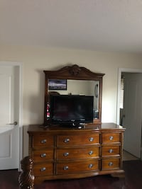 Solid Dresser Drawer Chest with Mirror   **Price Negotiable**