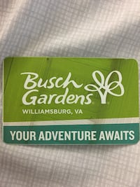Bush garden season pass Fairfax, 22031