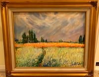 """This is a 20""""x16"""" duplicated painting of Monet with a beautiful gold frame. Pick up only in North Hills  2276 mi"""