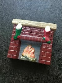Holland Mold painted ceramic fireplace