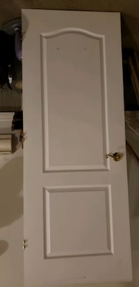 """Solid door 32"""" wide x79"""" high with hinges and handle"""