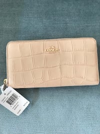 white leather crocodile skin wallet 12 km