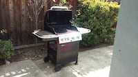 white and black gas grill SANJOSE
