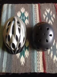 two white and black bicycle helmets Reading, 19601