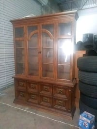 brown wooden china buffet hutch Port St. Lucie, 34952