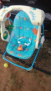 baby's blue and white bouncer Midland, 79707