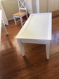 White wooden table with white wooden base Fairfax, 22033