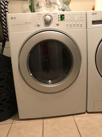 White lg front-load washer and electric dryer set East Petersburg, 17520
