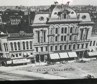 1870 Detroit opera house framed picture