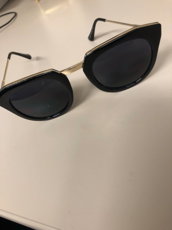 aad560e6c3 Used Black cat eye shaped sunglasses with gold trim. for sale in Ottawa -  letgo