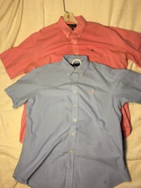 POLO RALPH LAUREN Two Short Sleeve Shirts Blue And Pink US L / EU 52-54 / 3 Laurel, 20723