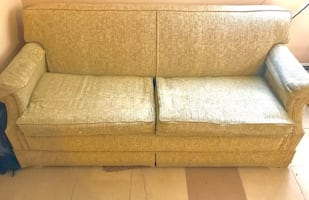 Convertible Couch/ Bed (lazyboy) beige color