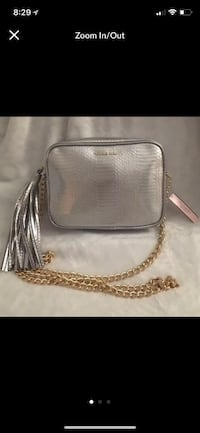 gray Michael Kors leather crossbody bag scerenshot