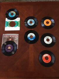 45 RPM Vinyl Records from the early 70s.