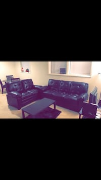 Black leather sofa and love seat  Baltimore, 21222