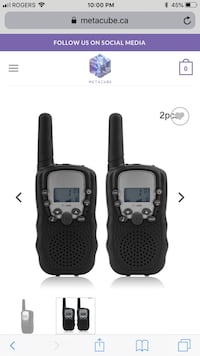 Walkie Talkie Radios With 1 YEAR Warranty Pickup In person or Buy From My Online Website (BRAND NEW) Surrey, V3T