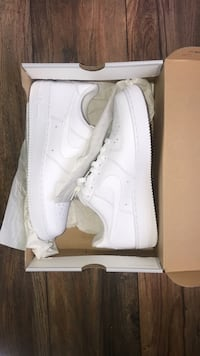 pair of white Nike Air Force 1 low Lithonia, 30058