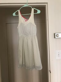 White and black dotted summer short dress Arlington, 22204