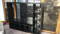 Black wooden frame glass display cabinet Laurel, 20723