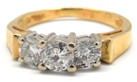 14K Ladies Three Diamond Ring Norfolk