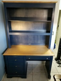 Pottery wooden desk with hutch