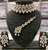 pair of silver and white pearl earrings Jaipur, 302012