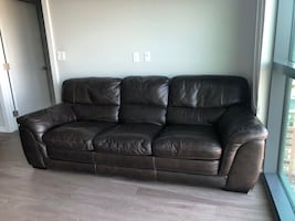 2 Beautiful, real leather couches