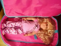 American girl doll with clothes and carrying case Toronto, M2J 1A9